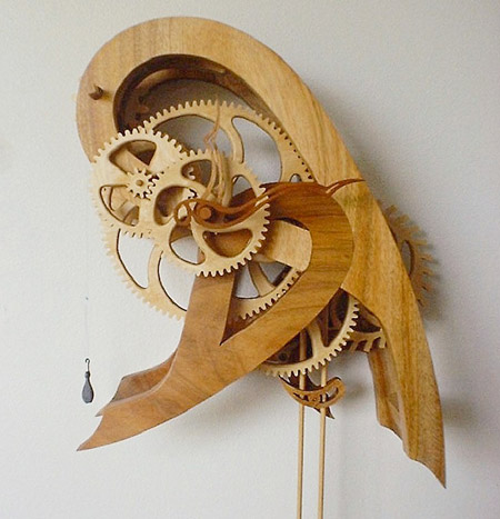 "My wife calls this the ""Paisley Clock."" It was one of my first designs ..."